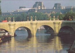 """75. PARIS. CPSM. 4 CARTES NEUVES . """" LE PONT NEUF EMPAQUETÉ """" PAR CHRISTO. LE 22 SEPTEMBRE 1985 - Ponts"""