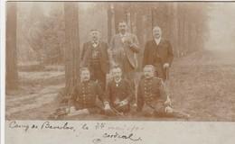 Bourg-Léopold , Kamp Van Beverloo ,   Fotokaart , Photocarte , 1903 , Civils  Posant Avec Des Militaires - Leopoldsburg (Camp De Beverloo)