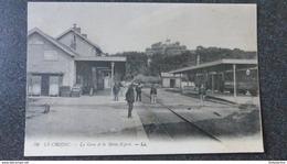CPA Le CROISIC La Gare Et Le Mont Saint Esprit Animée - Le Croisic