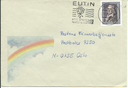 """Germany 1993 Cover With Friedrich Hölderlin, Mi 1681 Cancelled """"Eutin Post Zwischen Nord U. Ostsee 24.6.93 - BRD"""