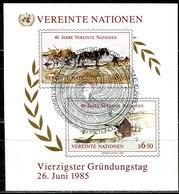 UNO Wien - Mi Block 2 = 51B / 52B - OO Gestempelt - 6,5-8,5S  40 Jahre UNO - Centre International De Vienne