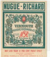 AN 713 / ETIQUETTE    VERMOUTH    NUGUE RICHARD - Unclassified