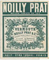AN 722 / ETIQUETTE    VERMOUTH   NOILLY PRAT & Cie  MARSEILLE - Labels