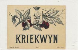 AN 729  / ETIQUETTE  KRIEKWYN   N° 315 - Etiquettes