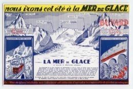 SUPERBE BUVARD AUTOMOTRICE TRAIN MER DE GLACE CHAMONIX MONTENVERS MONT BLANC HTE SAVOIE TBE - Transport