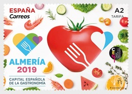 Spain 2019 - Spanish Capital Of Gastronomy 2019 - Almería Mnh - 2011-... Ungebraucht