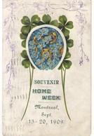 Carte Postale Ancienne/SouvenirHome Week / Equitation /Tréfles Et Fer à Cheval Montréal/ Canada /Saxony/ 1909      CFA44 - Demonstrationen