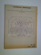 FERROVIA BORDEAUX 1970 28 Chemins De Fer Du VIVARAIS DAX MONT DE MARSAN Peyrouton Narrosse Hinx-sur-Adour Gamarde-les-Ba - Eisenbahnen & Bahnwesen