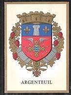 Cpsm 9520718 Argenteuil Carte 2 Volets Armoiries Et Descriptif - Argenteuil