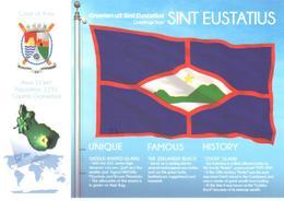 POSTAL   BANDERA DE SINT EUSTATIUS - Otras Colecciones