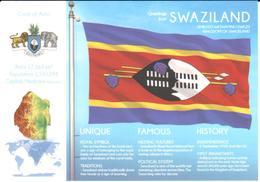 POSTAL   BANDERA DE SWAZILAND - Otras Colecciones