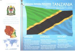 POSTAL   BANDERA DE TANZANIA - Otras Colecciones