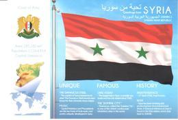 POSTAL   BANDERA DE SYRIA - Otras Colecciones