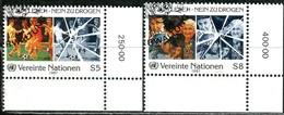 UNO Wien - Mi 71 / 72 ECKEN REU - OO Gestempelt (A) - 5-8s         Kampf Gegen Drogenmissbrauch - Centre International De Vienne