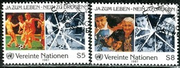 UNO Wien - Mi 71 / 72 - OO Gestempelt (B) - 5-8s         Kampf Gegen Drogenmissbrauch - Centre International De Vienne