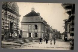 CCPA 28- LA FERTE VIDAME - LA RUE DU TEMPLE - GRAND PERRON DE L'EGLISE - Francia