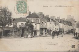 PONTORSON ( Manche ) - Avenue De La Gare. Restaurant Besnard. Personnages. - Pontorson