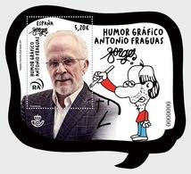 Spain 2019 - Cartoons, Antonio Fraguas 'Forges' - Mint - Miniature Sheet Mnh - 2011-... Gebraucht