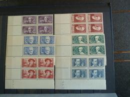 D3 - Coins Datés - Serie YT 380 à 385 N** MNH - Chomeurs Intellectuels - 1938 - Angoli Datati