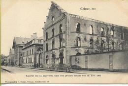 COLMAR  Kaserne Des 14 Jüger-bat Après L'incendie Du 26 Novembre 1903 ***CARTE RARE*** - Colmar