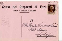 4230 FORLI CASSA RISPARMI CIVITELLA DI ROMAGNA - 1900-44 Vittorio Emanuele III