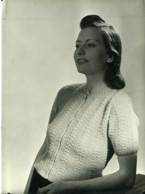 France Paris Mode Feminine Gilet Tricot 3 Suisses Ancienne Photo 1939 - Photographs