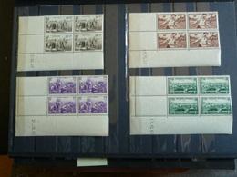 D3 - Coins Datés - Serie YT 466 à 469 N** MNH - Au Profit Du Secours National - 1940 - 1940-1949