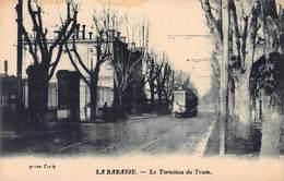CPA LA BARASSE - Le Terminus Du Tram - Saint Marcel, La Barasse, Saint Menet