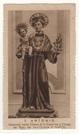 557 Santino Antico Seppia Sant'Antonio Di Padova Da Napoli - Religión & Esoterismo