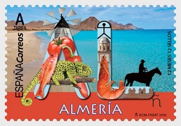 Spain 2019 - 12 Months, 12 Stamps - Almeria Mnh - 2011-... Ungebraucht