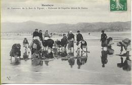 BIARRITZ  Panorama De La Bais Du FIGUIER - PECHEUSES De COQUILLES Devant Le CASINO - Biarritz