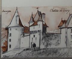 Petit Calendrier Poche 1979 Illustration Château De Toury Auvergne - Calendriers
