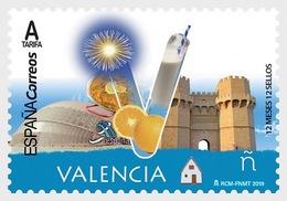 Spain 2019 - 12 Months, 12 Stamps - Valencia Mnh - 2011-... Ungebraucht