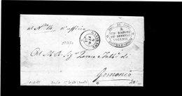 CG1 - Gavirate.- Doppio Cerchio Sardo Ital.+ Bollo Sub Economo De Benefici Vacanti -  Lett. Per Gemonio 9/2/1861 - Italia