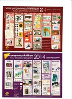 Carte Entier Postal Monde 20g Votre Programme Philatélique 2014 - 1 Er Semestre 2014 Et  2 ème Neuf - Postal Stamped Stationery