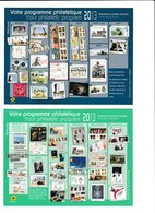 Carte Entier Postal Monde 20g Votre Programme Philatélique 2013 - 1 Er Et  2 ème Semestre 2013 - Postal Stamped Stationery