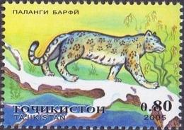 Tajikistan - Snow Leopard (Uncia Uncia), Stamp, MINT, 2005 - Raubkatzen