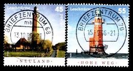 Bund 2006  Mi.nr.:2555-2556 Leuchttürme  Gestempelt / Oblitérés / Used - Oblitérés
