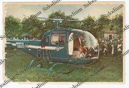1959 - CERVIA - Madonna Di Fatima Pellegrina - Elicottero G Agusta Helicopter - Ravenna - Foto Satino Holy Card - Luoghi