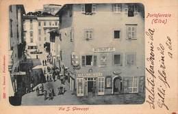 CPA Porioferraio ( Elba ) - Via S. Giovanni - Livorno