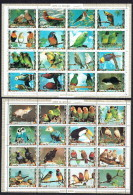 1972  2 Feuilles De 16 Timbres «Oiseaux Exotiques» Perroquets Et Autres  Oblitérées - Umm Al-Qiwain