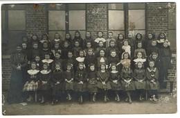 Carte Photo 1912 - Zingem - Ecole Singem - Photo De Classe - Fillettes 3e Klas  - 3 Scans - Zingem