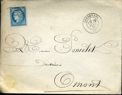 VENDRESSE 19 JUIN 73 + GC 4131 Sur Timbre N° 60 Type 1 25c Cérès - 1849-1876: Période Classique
