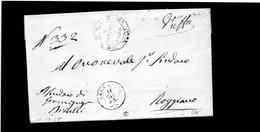 CG1 - Germignaga - Doppio Cerchio Sardo Ital. + Bollo Municipio Di Como - Lett, Per Roggiano 11/12/1865 - Italia