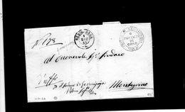 CG1 - Germignaga - Doppio Cerchio Sardo Ital. + Bollo Araldico Provincia Di Como - Lett. Per Montegrino 1/6/1864 - Italia