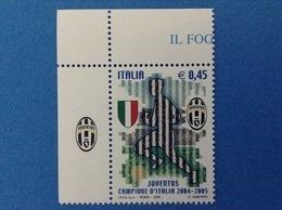 2005 ITALIA FRANCOBOLLO NUOVO STAMP NEW MNH** CALCIO JUVENTUS CAMPIONE APPENDICE SCUDETTO - 1946-.. République