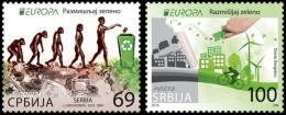 "SERBIA /SRBIJA /SERBIEN - EUROPA 2016 -TEMA ""ECOLOGIA -EL PENSAMIENTO VERDE -THINK GREEN"".-SERIE 2 V. - Europa-CEPT"