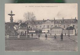 """Oblit. (10) Cachet """"Secteur Médical - Hôpital Audiffred Sur Carte Troyes - Lycée - Hôpital Complémentaire N°6 - Postmark Collection (Covers)"""