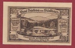 Allemagne 50 Pfenning) Stadt  Bad Sachsa Am Südharz  Dans L 'état N °5568 - Collections