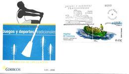 """Espagne FDC 2008 """" Aviron """" - Roeisport"""